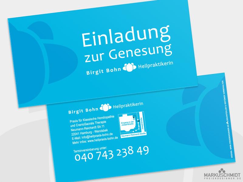 Job: Flyer, Client: Birgit Bohn - Heilpraktikerin