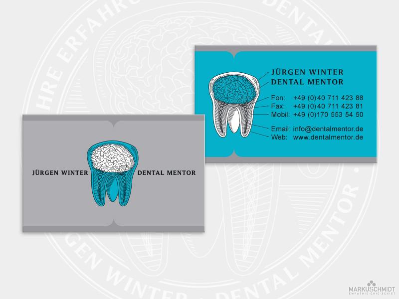 Job: Visitenkarten Design, Client: Jürgen Winter - Dental Mentor