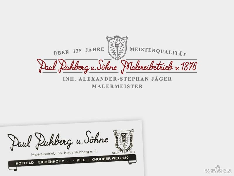 Job: Logo Relaunch, Client: Malereibetrieb Ruhberg und Söhne