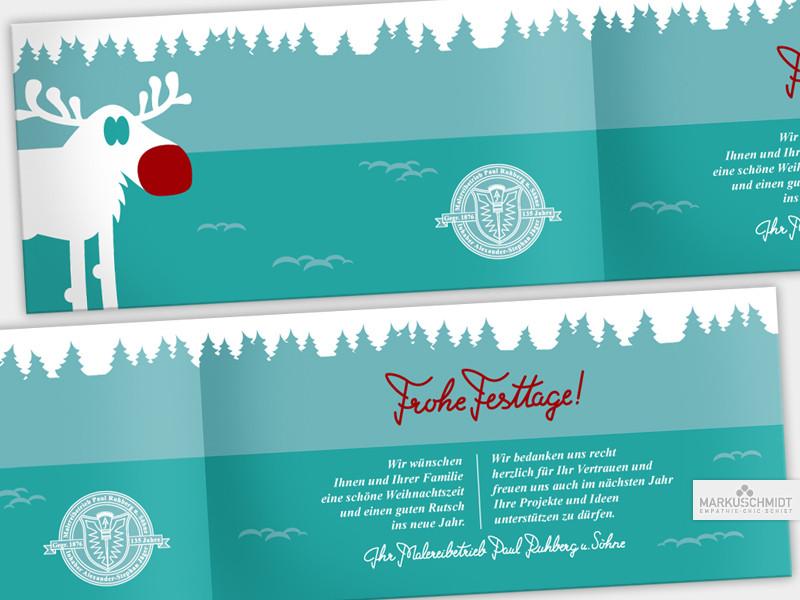 Job: Weihnachtskarte (inside), Client: Malereibetrieb Ruhberg und Söhne