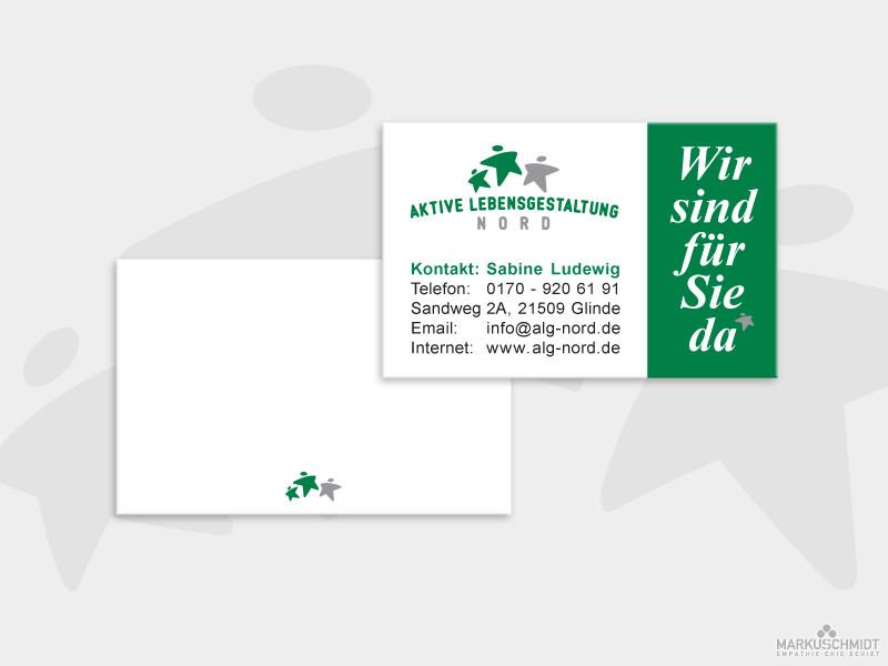 Job: Visitenkarten Design, Client: Aktive Lebensgestaltung Nord