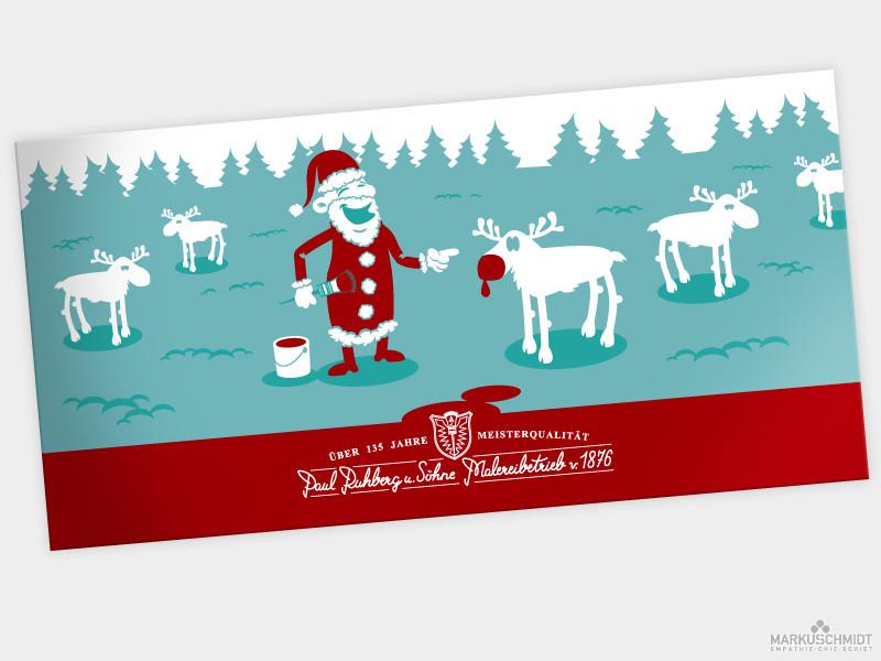 Job: Weihnachtskarte (front), Client: Malereibetrieb Ruhberg und Söhne