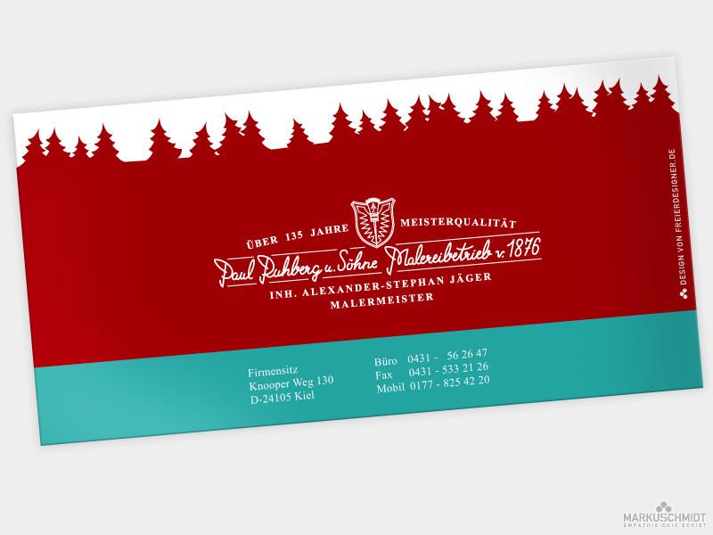 Job: Weihnachtskarte (back), Client: Malereibetrieb Ruhberg und Söhne