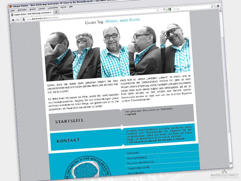 Job: Website Design, Client: Jürgen Winter - www.dentalmentor.de
