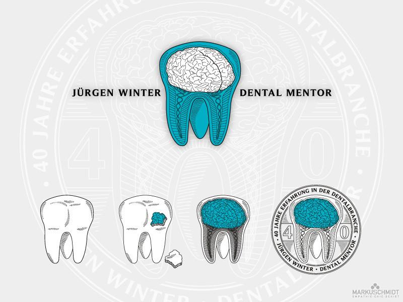 Job: Logo Design, Client: Jürgen Winter - Dental Mentor