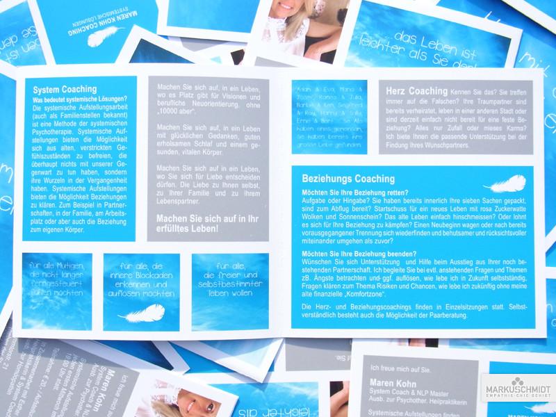 Job: Flyer Design, Client: Maren Kohn - Bewusstseinscoach