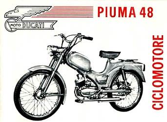Anuncio italiano de la Ducati Piuma 48