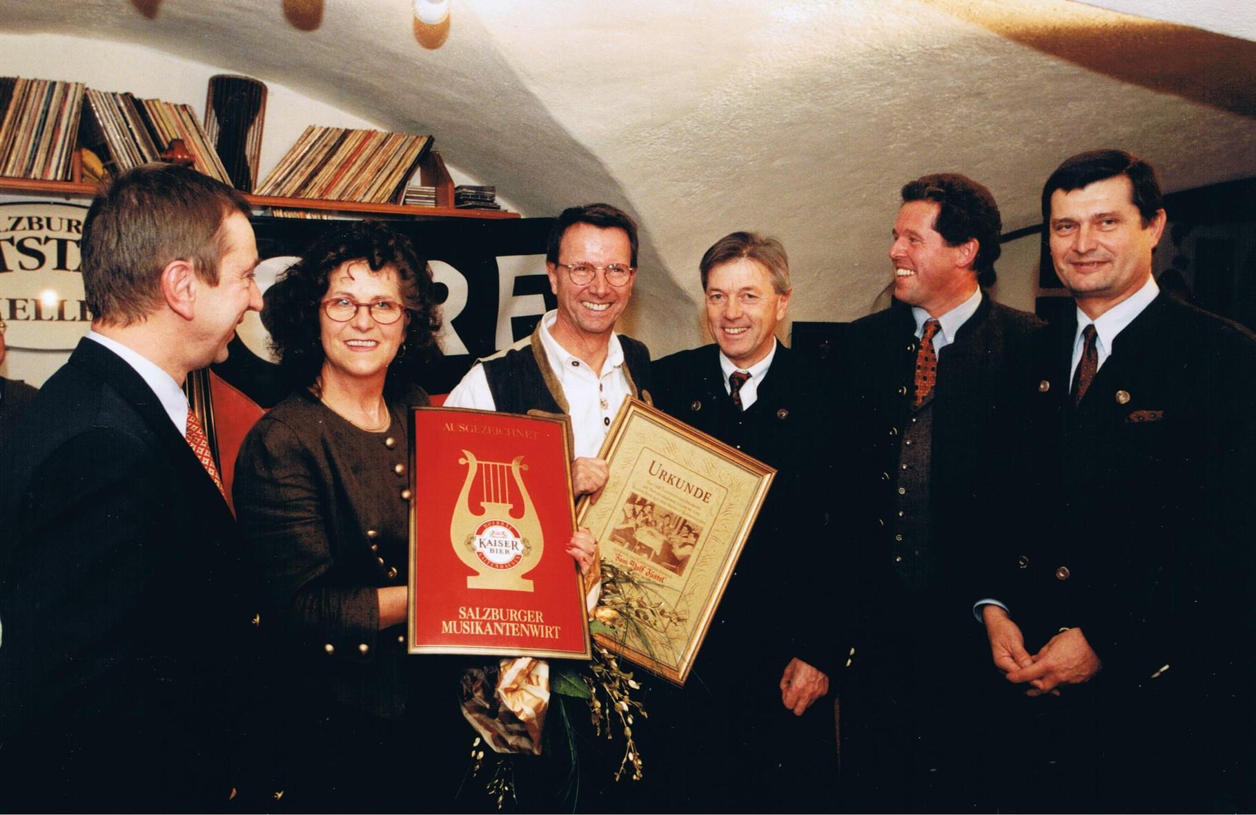 Altstadkeller Auszeichnung ORF zum Musikantenwirt