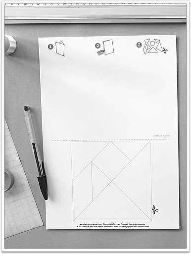 www.presto-tangram.com - Imprimer chaque Tangram sur du papier épais au format A4.