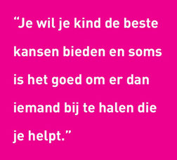 Quote ouder over vrijwillige mentor 14+
