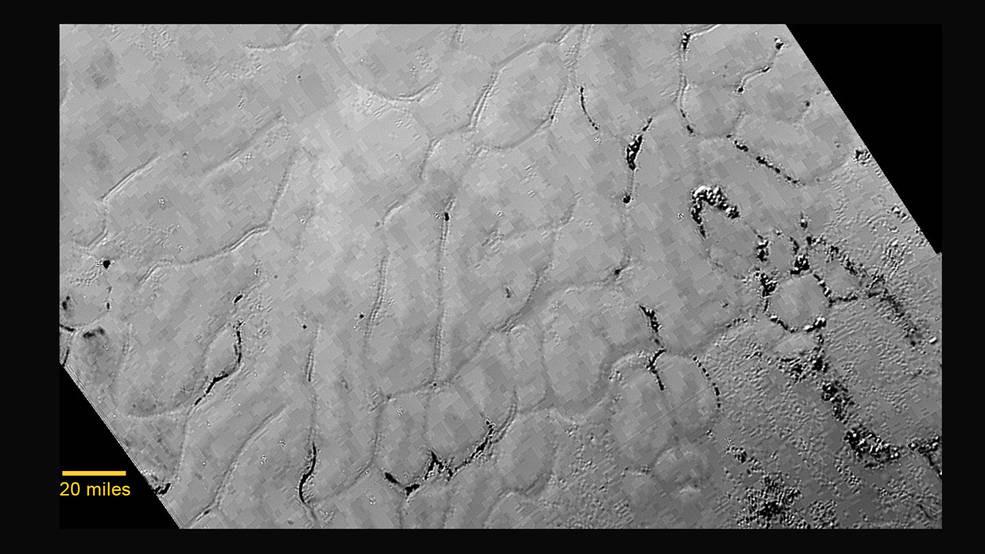 """Les plaines gelées du """"coeur """" de Pluton"""
