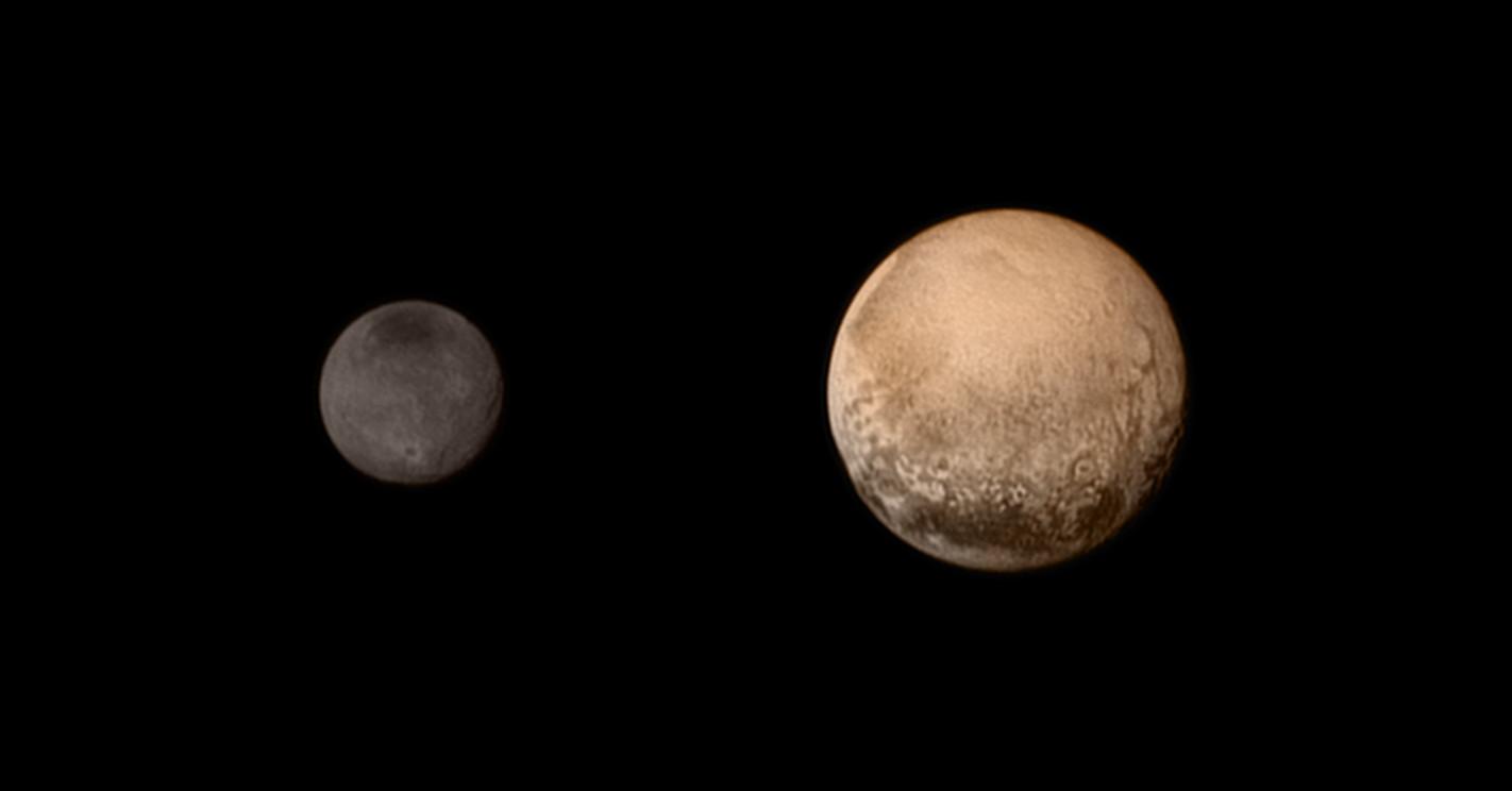 Pluton et Charon : Pluton (2370 km), Charon (1208 km)