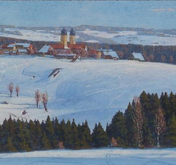 Hermann Dischler: St. Märgen (Ausschnitt, r.)