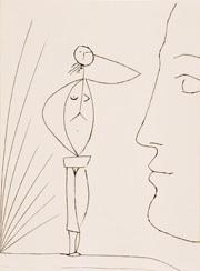 © Sucession Picasso/VG Bild- Kunst: Pablo Picasso - Profil et Femme nue