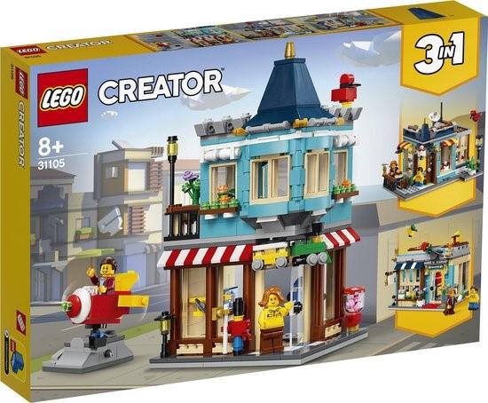LEGO 3 IN 1  WOONHUIS, SPEELGOEDWINKEL, TAARTENWINKEL