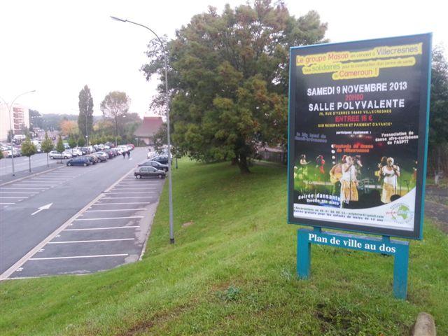 Concert poster Les Jumeaux de MASAO (Masao Masu) in Villecresnes