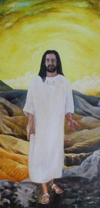 Christus in der Wüste, Der 41. Tag, Öl auf Leinwand, Erste Fassung
