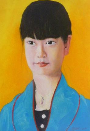 Menschenplanet , Pekingoper , Porträt. Öl auf Leinwand,