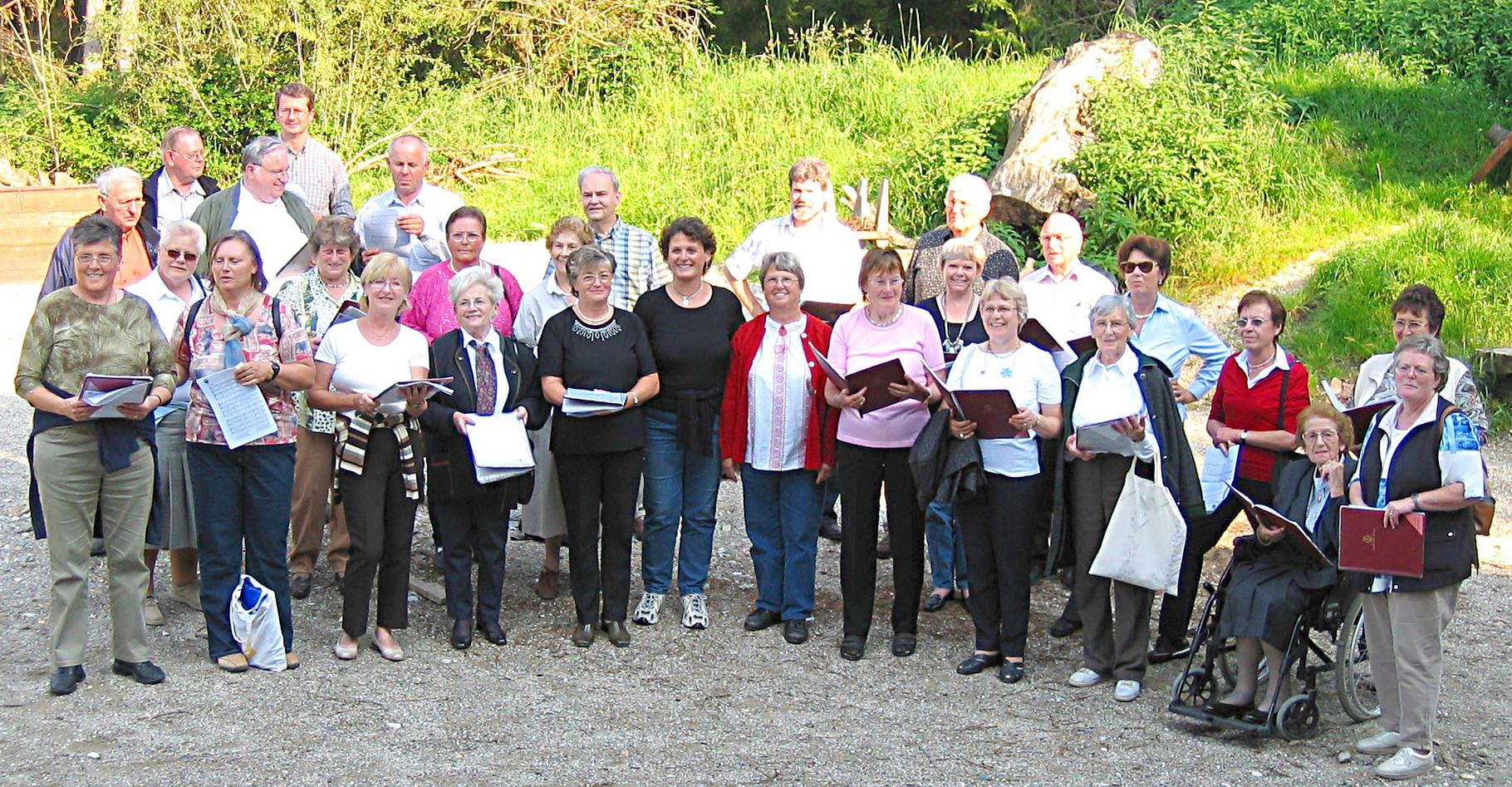 2005 - Beim Chorausflug nach Burghausen in der Waldbühne von Halsbach