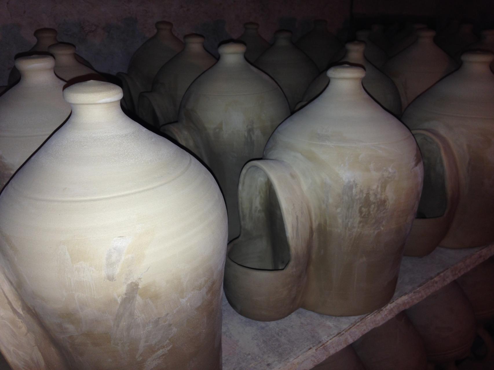 Wasserspender im Trocknungsraum/Produktion Saison 2014