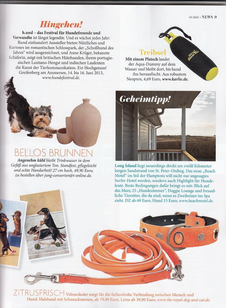 Veröffentlichung in DOGS /Hundemagazin/ Ausgabe 2013 Mai-Juni