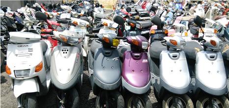 埼玉 バイク無料引取り 原付無料廃車 スクーターの回収