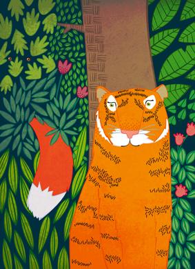 Ilustración para el libro Mitos, cuentos y leyendas de América Latina, Verbum Editorial. 2013