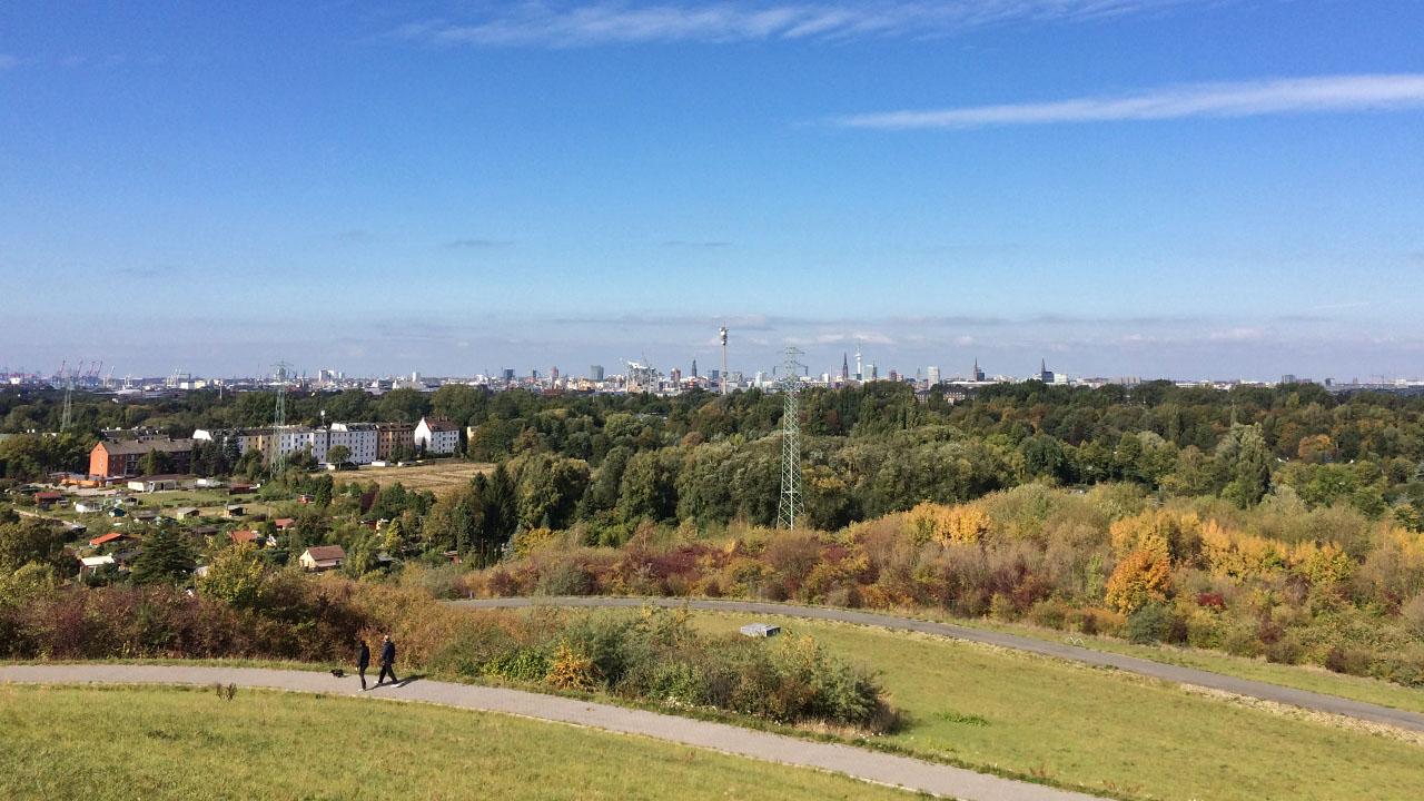 Panoramablick vom Gipfel des Energiebergs.      Foto: Lea-Carina Mendel