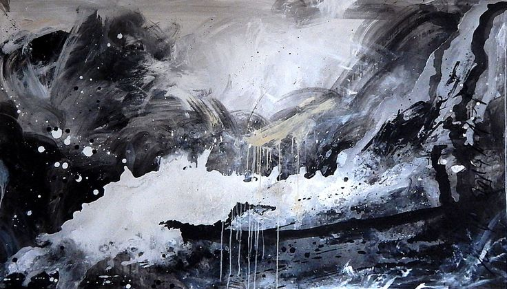 kunst malerei schwarzweiss