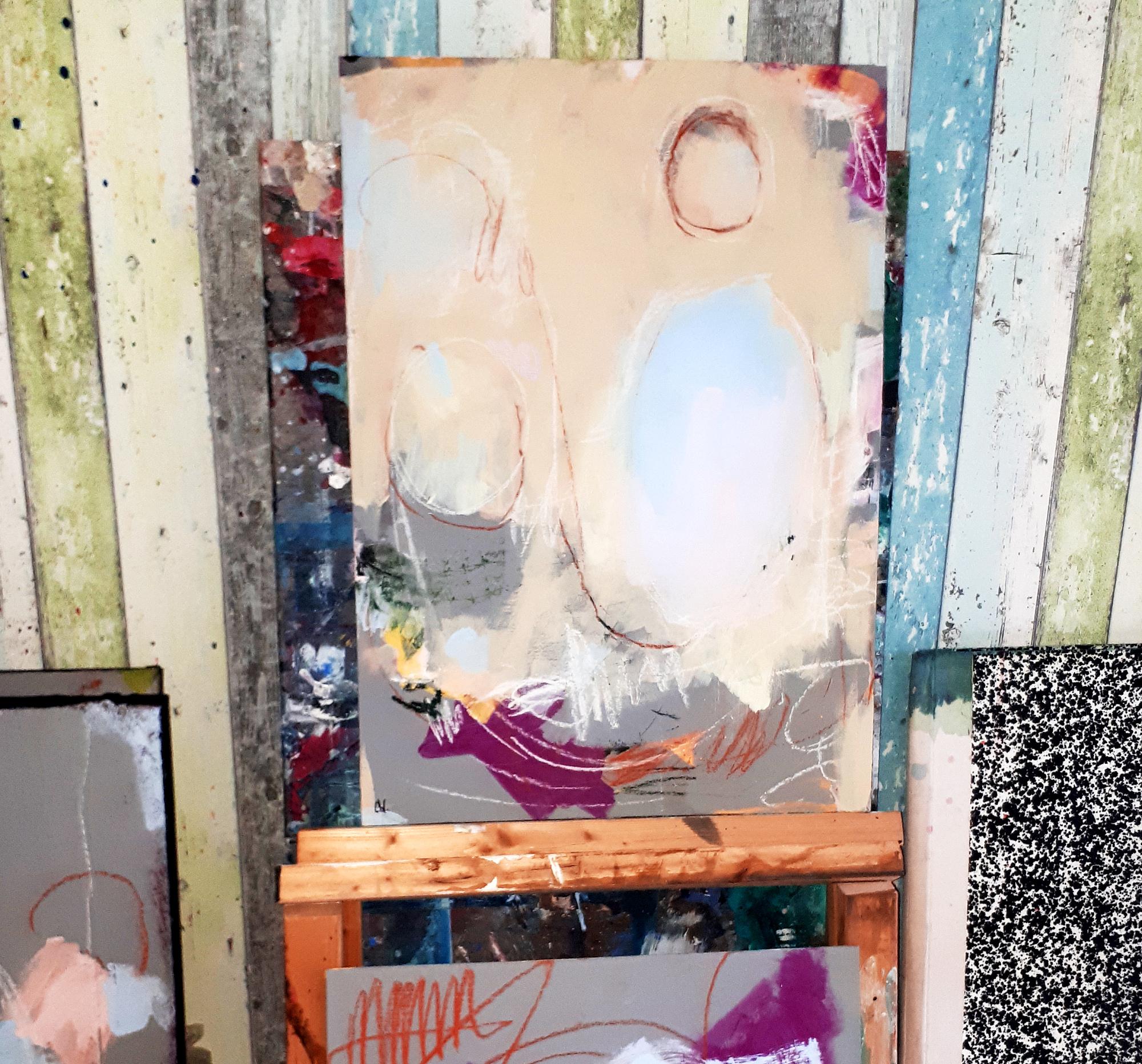 abstraktes Bild auf MDF Platte  für Bilderrahmen