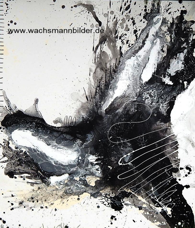 Titel: Abstrakter Eyecatcher in beige schwarz weiß
