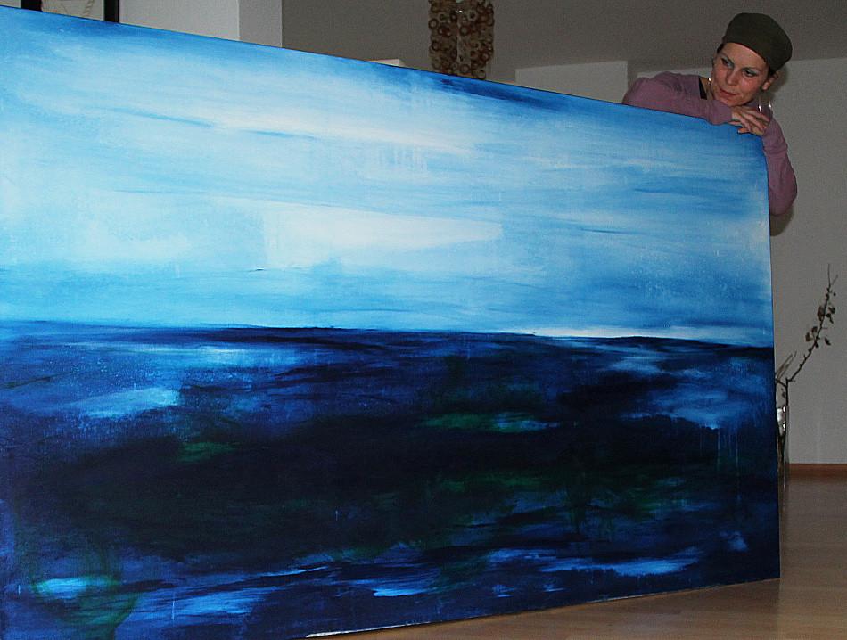 blaues großes bild meer