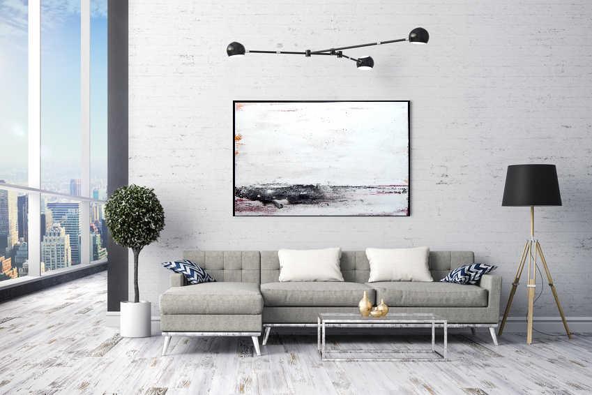 weißes Gemälde