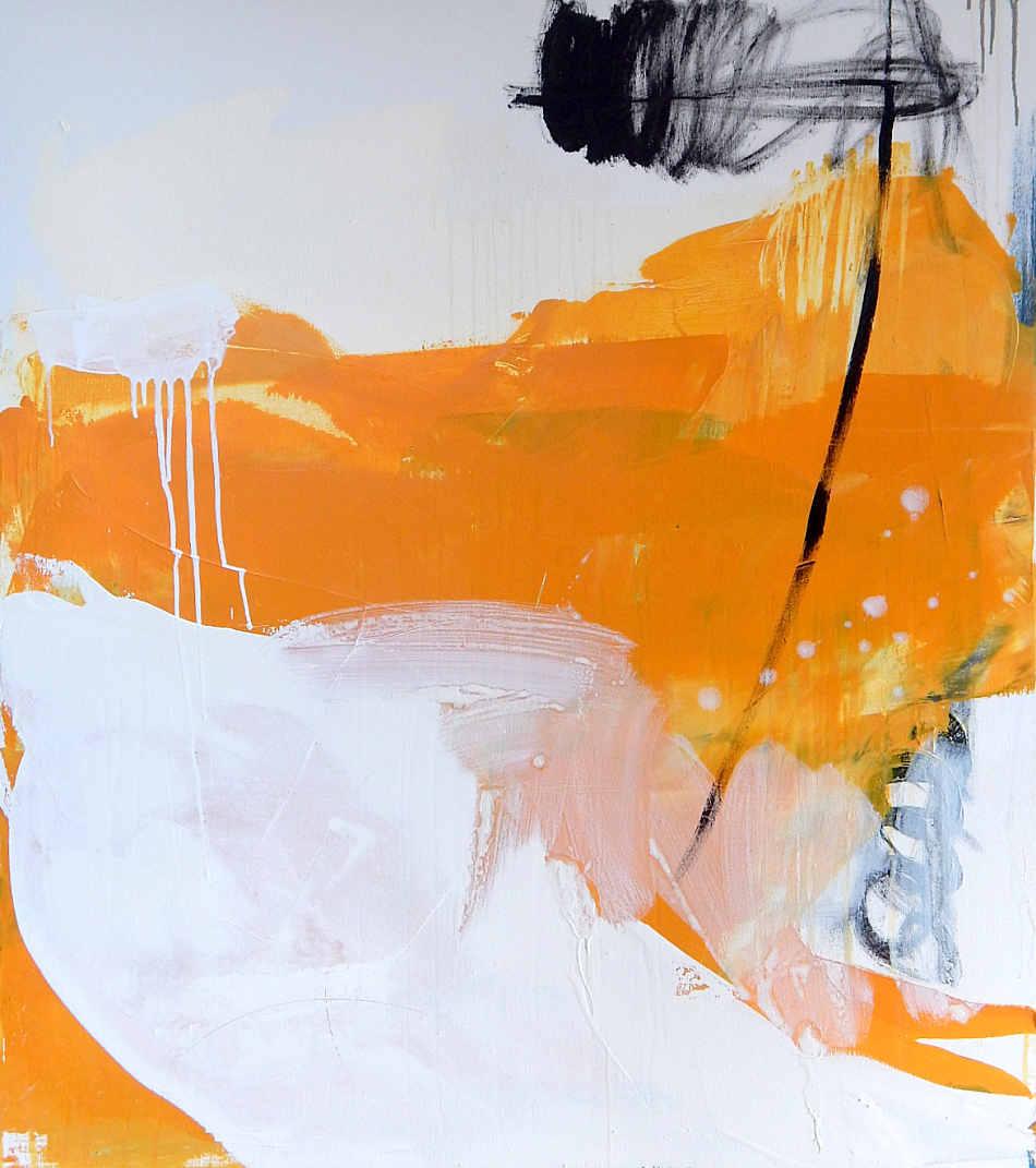 gelbes abstraktes Bild Freiraum
