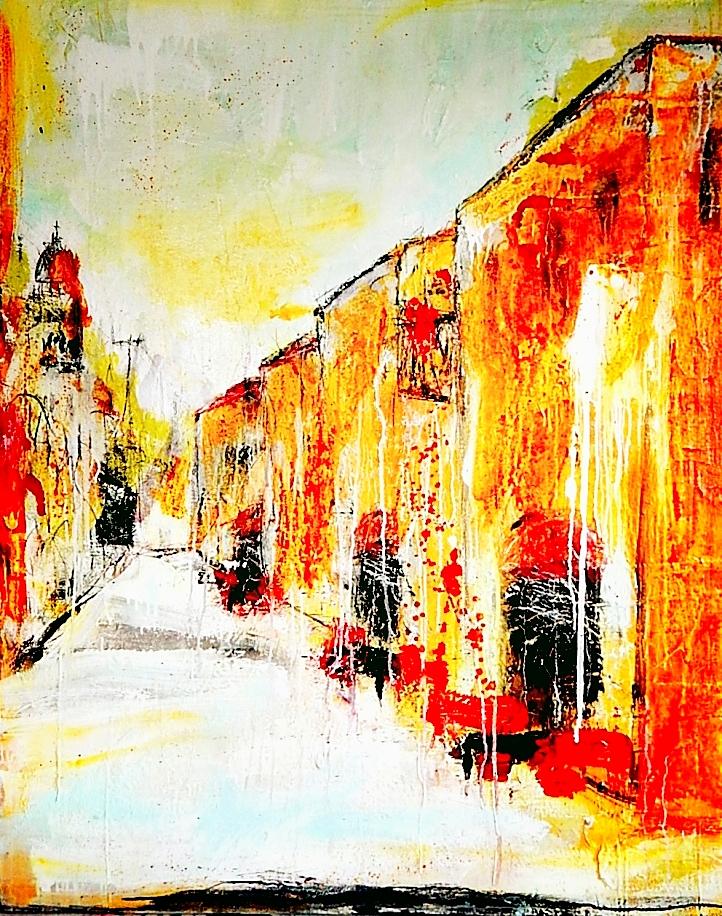 abstraktes bild fließtechnik italien