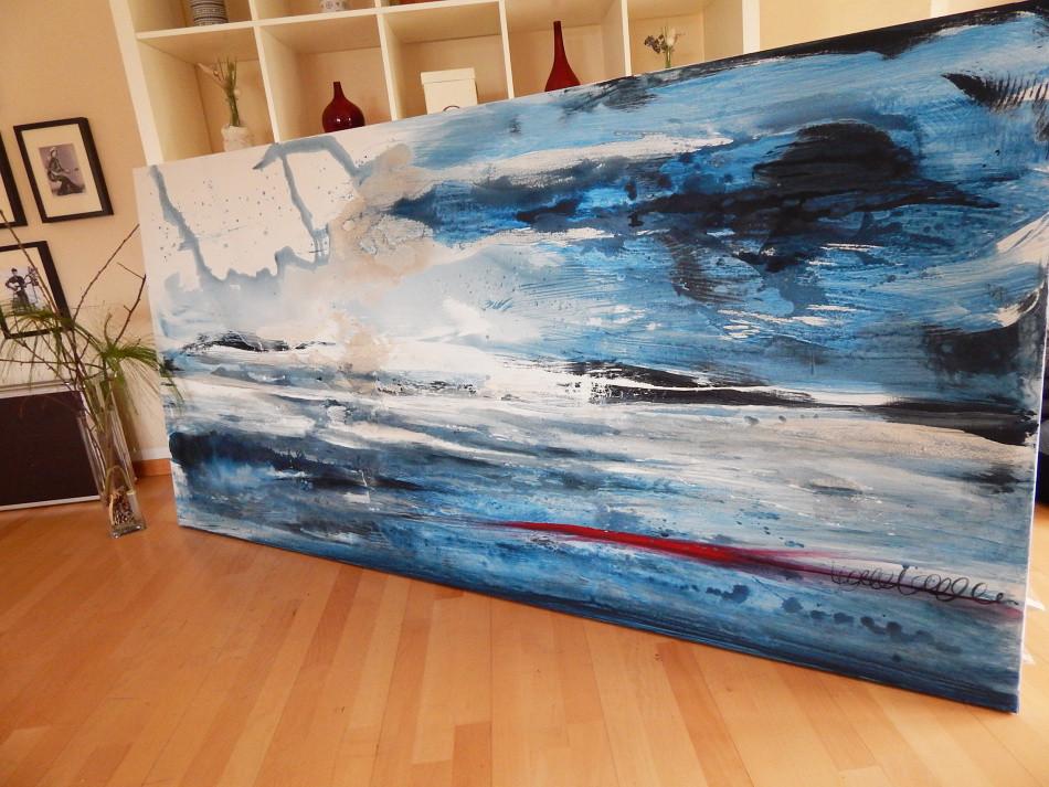 Blaues Bild Gemälde groß