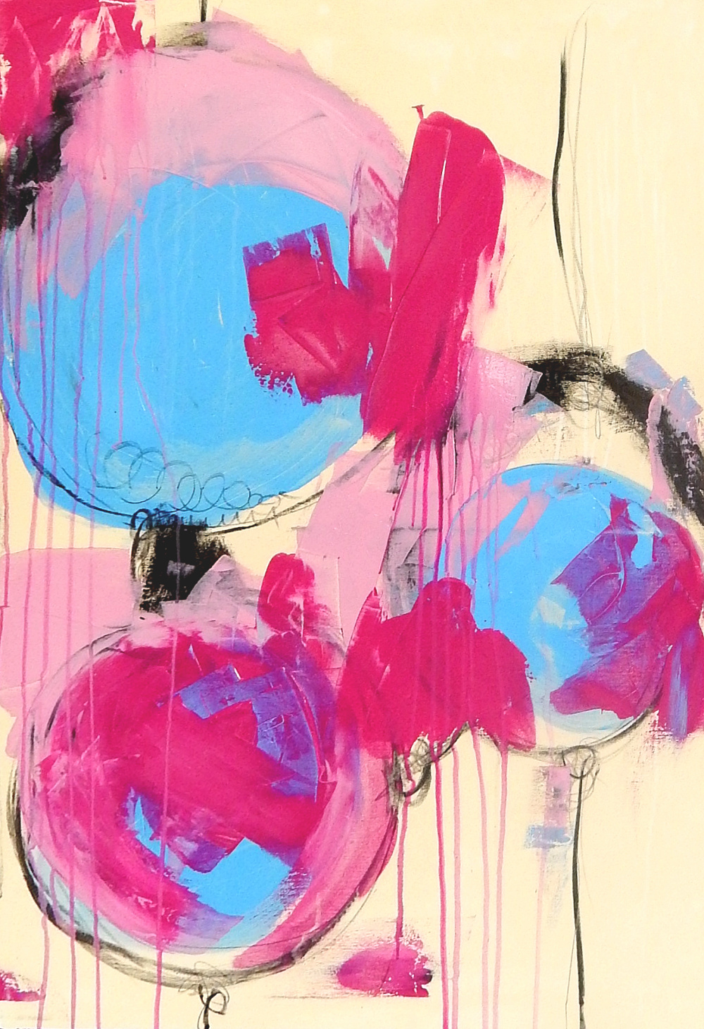 bild rosa 110 x 70 cm