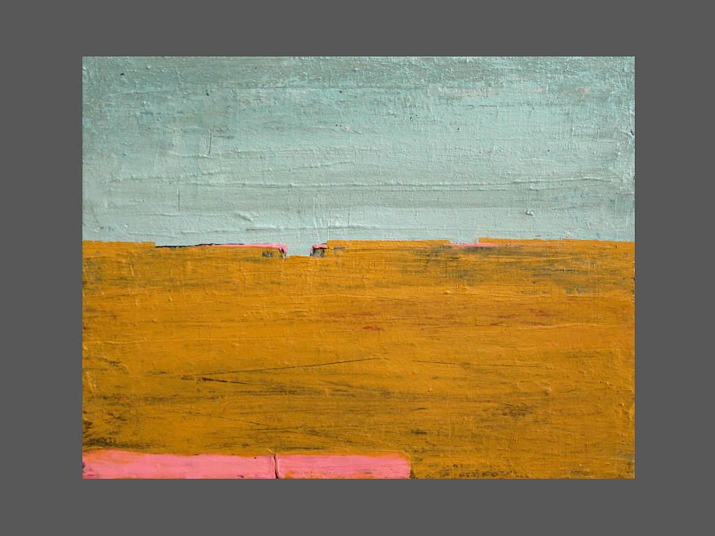 abstrakte Landschaft mint ocker