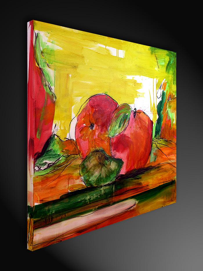 Gemälde orange gelb