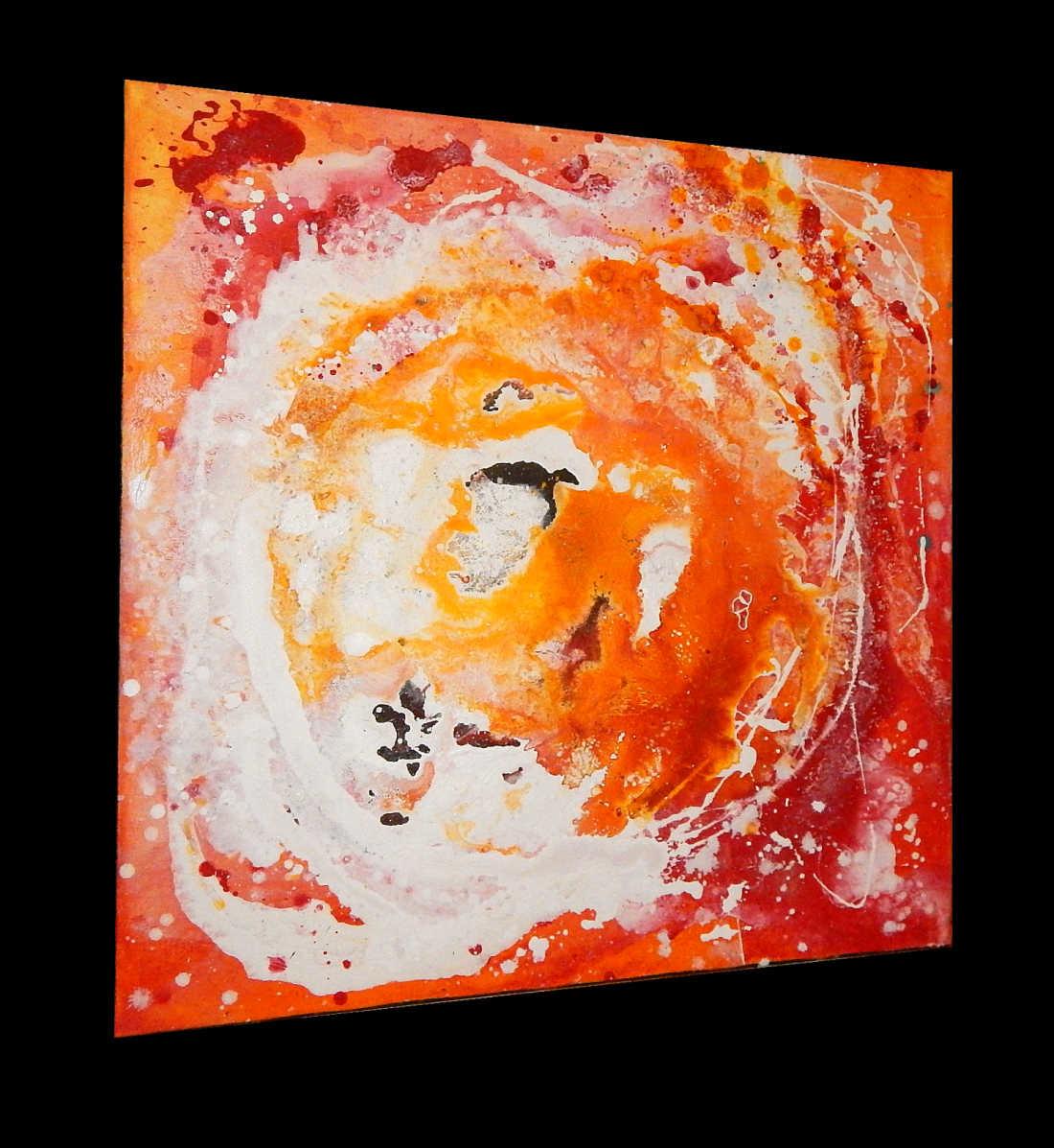 Acrylbild orange