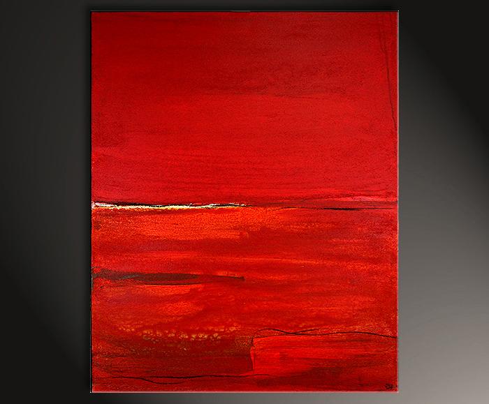 100 x 80 cm Bild in rot
