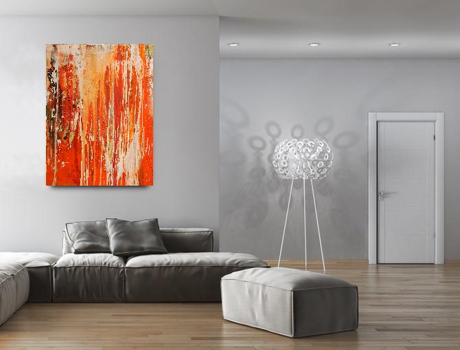 bild im Raum in orange