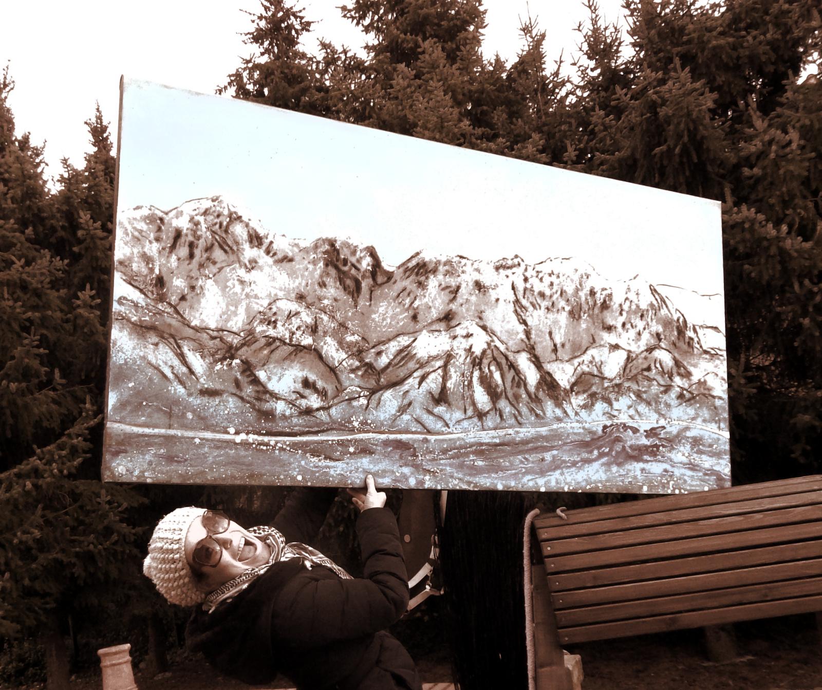 Bestimmter Berg wurde gemalt