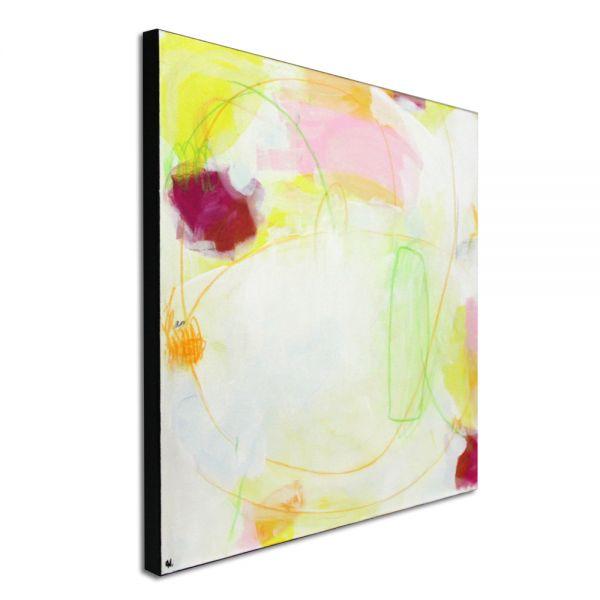 Zwei weisse pastellige Bilder in je 80 x 80 cm