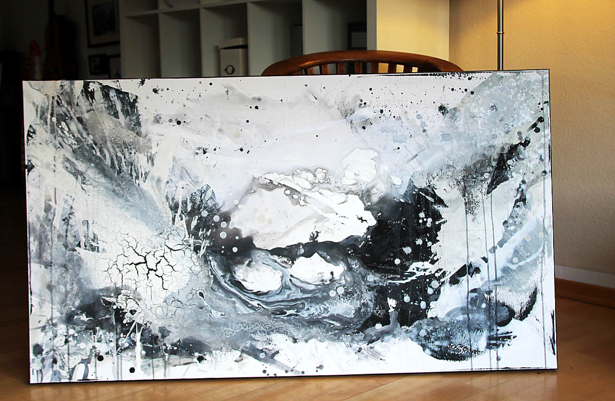 abstraktes Bild in s/w