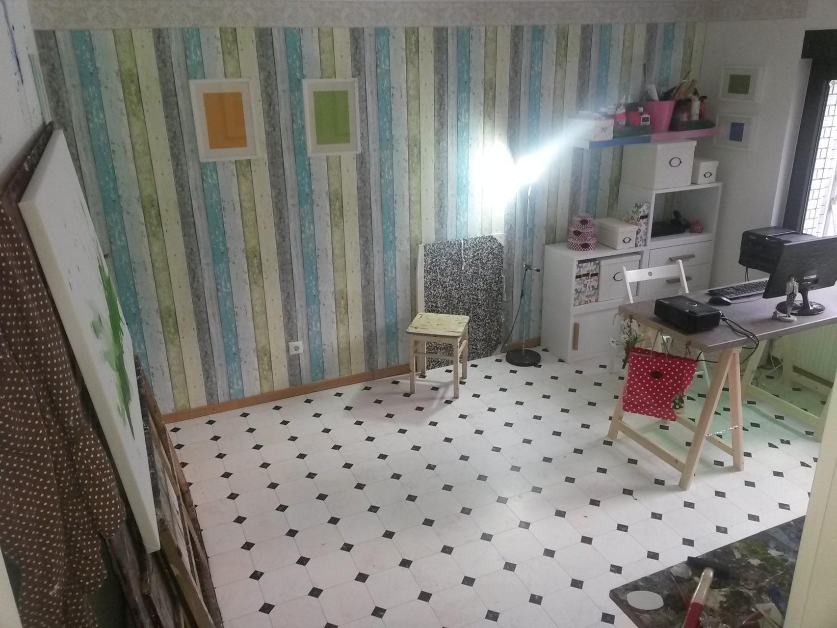 So sieht nun mein Atelier aus