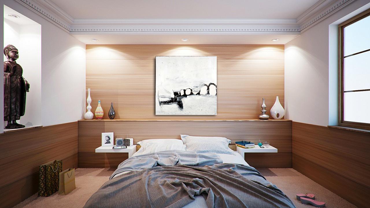 abstrakte schwarzweiss Malerei im Raum