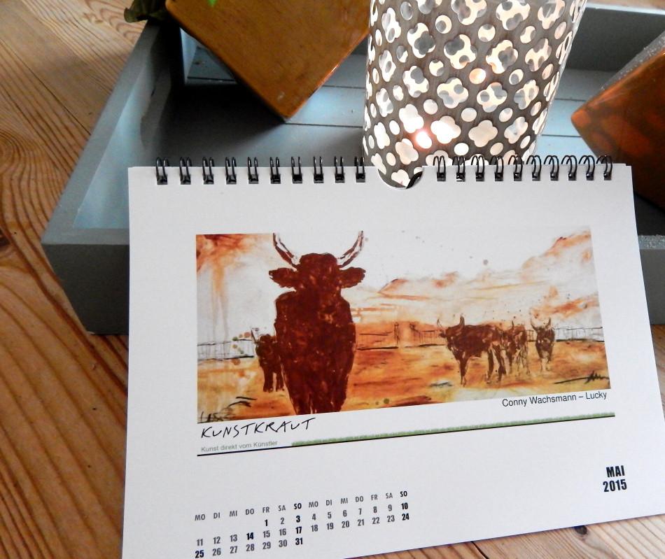 Mein Stierbild im Kunstkrautkalender 2015 Mai
