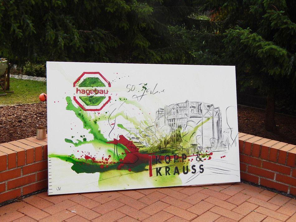 Unternehmen Bilder malen lassen - Beispiel: Hagebaumarkt