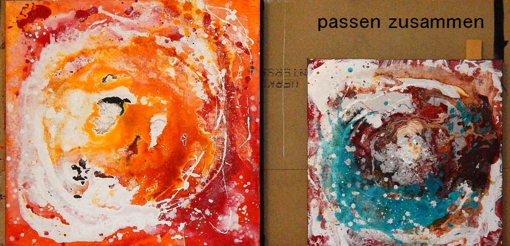 Zwei Bilder in gleicher Malart - beide verkauft